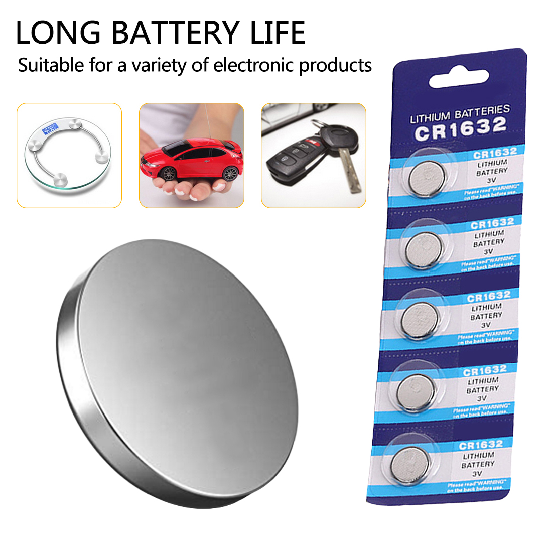 Power LR44 Coin Cell Alkaline Battery ag13 357 sr44 a76 lr1154 1.5v 160mah 20cells