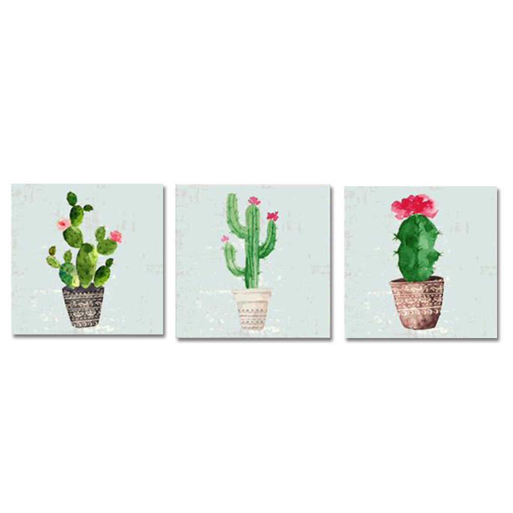 Plant Wall Art Canvas Painting Canvas Art Sets Posters and Prints Nordic Modern Home Decoration Wall Pictures for Living Room