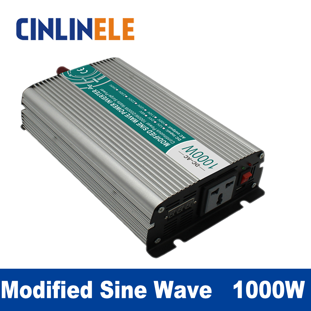 Modified Sine Wave Inverter 1000W CLM1000A DC 12V 24V to AC 110V 220V 1000W Surge Power 2000W Power Inverter 24V 110V