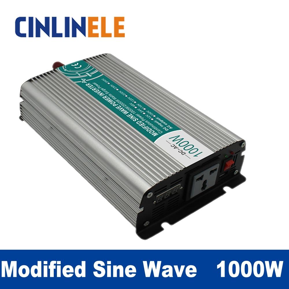 Modified Sine Wave Inverter 1000W CLM1000A DC 12V 24V to AC 110V 220V 1000W Surge Power 2000W Power Inverter 24V 110V газонокосилка электрическая prorab clm 1800