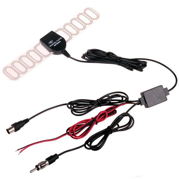 Auto Dash DVD Ftype IEC SMA Stecker Analog Digital TV DVBT ATSC Antenne mit Radio FM und DC Leistungsverstärker