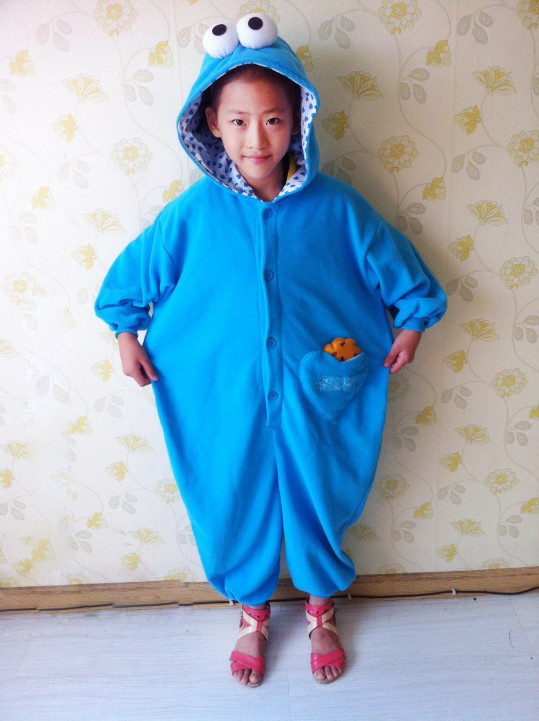 Children Boy Girls Sesame Street Costume Onesies Red elmo Cookie Monster Cosplay Pajamas Pyjamas Kids Sleepwear Winter Halloween-in Boys Costumes from ...  sc 1 st  AliExpress.com & Children Boy Girls Sesame Street Costume Onesies Red elmo Cookie ...