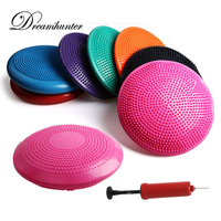 33CM PVC Inflatable Yoga Balancing Balls Pad For Fitness Sports Pilates Pad Mat Stability Gym Exercise Half Balls Point Massage