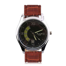 Common Type Man Lady Rome Vacation Style Faux Calendar Quartz Watch Luxurious Every day Watch F-016 Fake Leather-based Strap