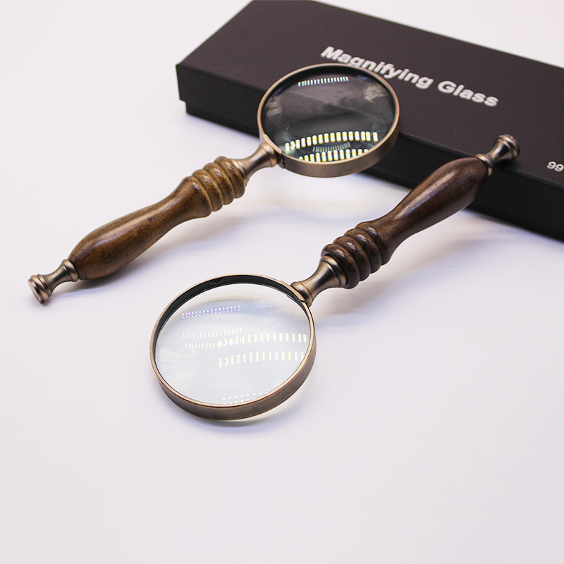 10x 72mm HD Hand held Chic Glass Lenses Imitating ebony Straight Shank Magnifier Jewellery Loupe Reading Optical Instruments