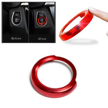 Red Button Cover Trim Switch Ring Auto Car Vehicle Ignition For BMW 1 2 3 Interior Engine Start(China)