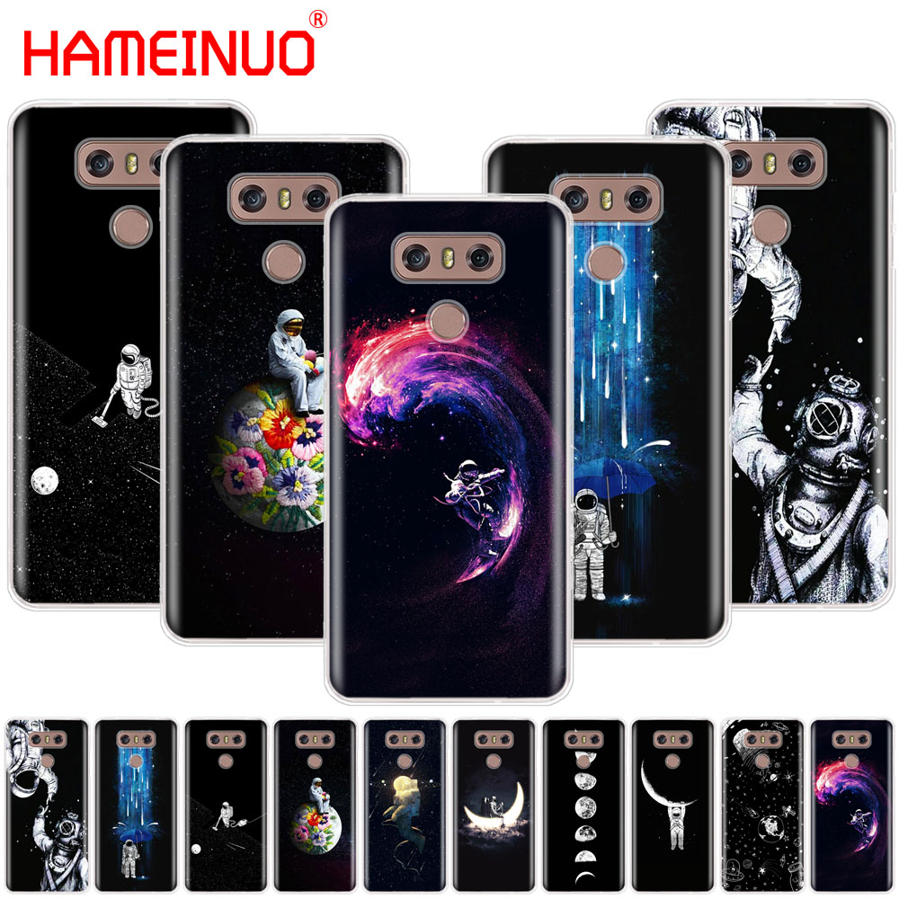 Symbol Of The Brand Hameinuo Newest Space Moon Astronaut Pattern Case Phone Cover For Lg G7 Q6 G6 Mini G5 K10 K4 K8 2017 2016 X Power 2 V20 V30 2018 Phone Bags & Cases
