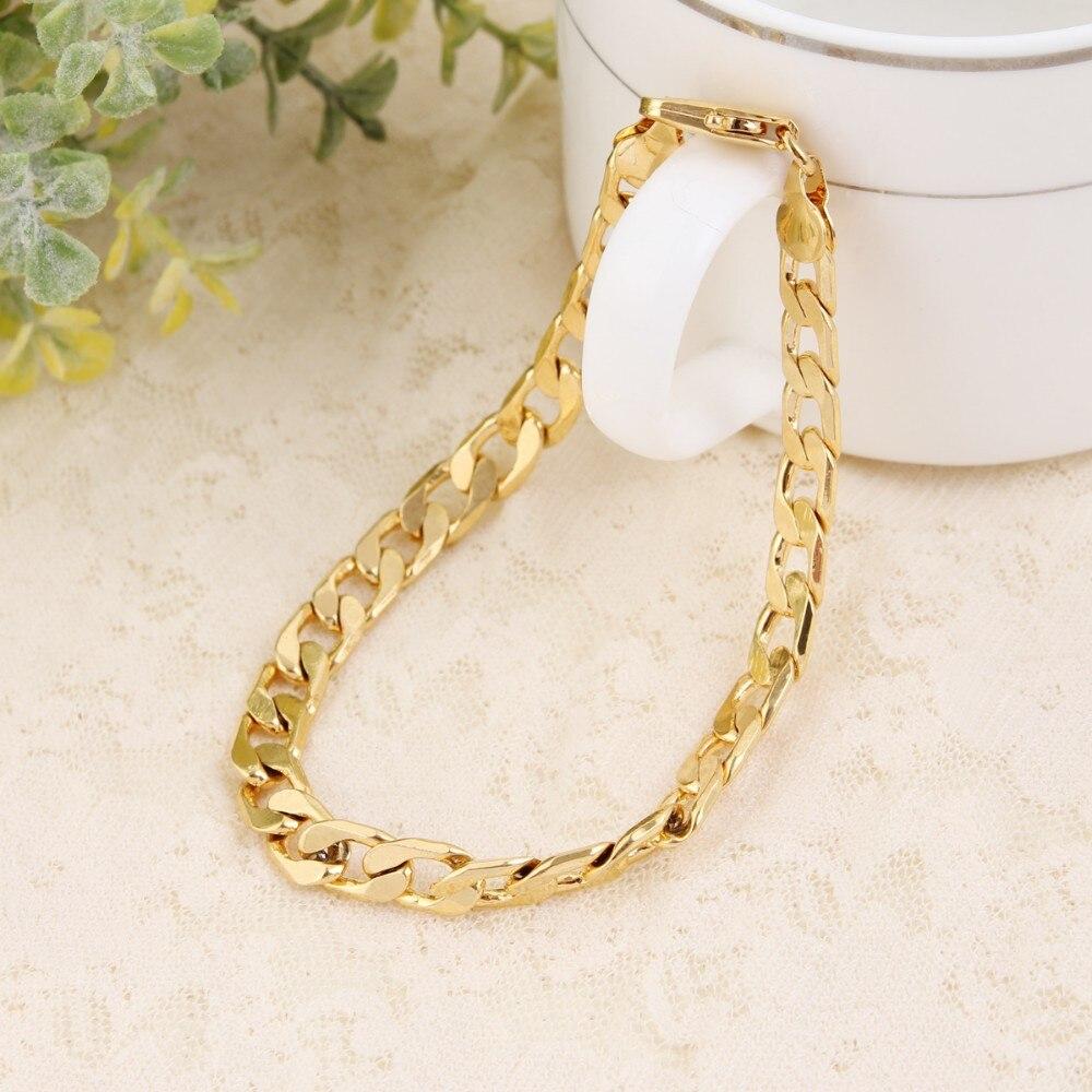 Bangrui Bracelet Men Jewelry Wholesale Trendy Gold Filled 21cm Thick Cuban  Link Chain Bracelets(china
