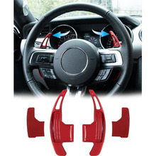 Chuang Qian 2Pcs Steering Wheel Dull Polish Shift Paddle Shifter For 2015-2019 Ford Mustang (Red) цены