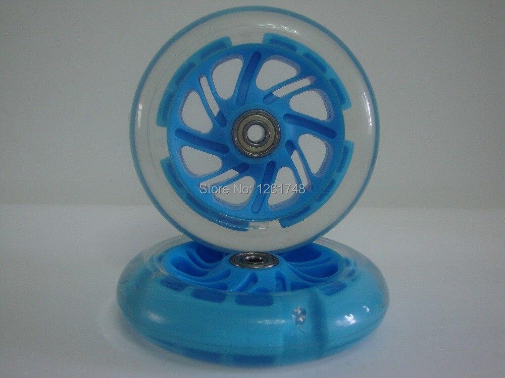 Prix pour 4 roues! grand escompte! haute qualité LED flash roues/scooter roues/skate roues 120x30mm