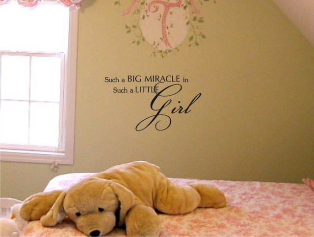 Such A Big Miracle In Such A Little Girl Vinyl Wall Art
