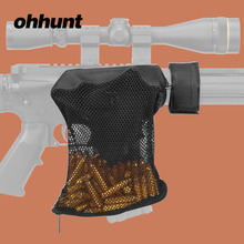 Ohhunt Tactical AR15 Ammo Brass Shell Catcher Zippered Closure Quick Unload Magazine Hunting Accessories Nylon Mesh Black