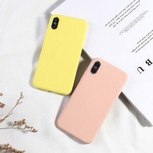 Image 5 - Simple Couleure bonbon Téléphone étui pour iPhone XS MAX X XR 7 8 Plus étui arrière souple en silicone or polyuréthane thermoplastique Pour iPhone 6 6 s Plus NOUVELLE Mode Capa