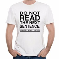 Men's T Shirt Cape Sleeves Thin Youth Printed Do Not Read The Next Sentence You Rebel Fitness Casual T-shirt Men's Clothing