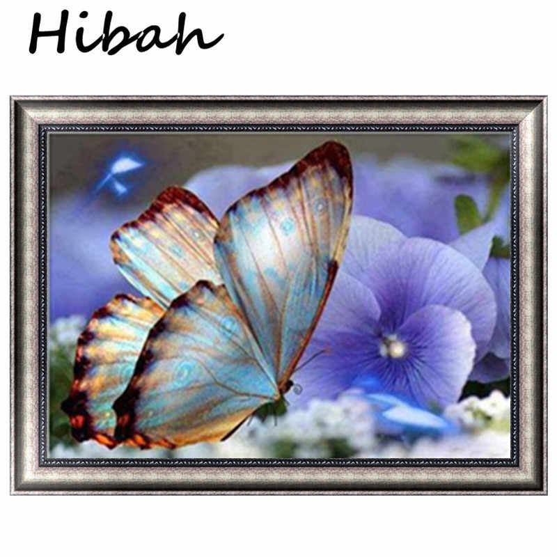 Animal Needlework 5D Diy Diamond Painting Cross Stitch Butterfly Painting Diamond Embroidery Round Diamond Mosaic Picture
