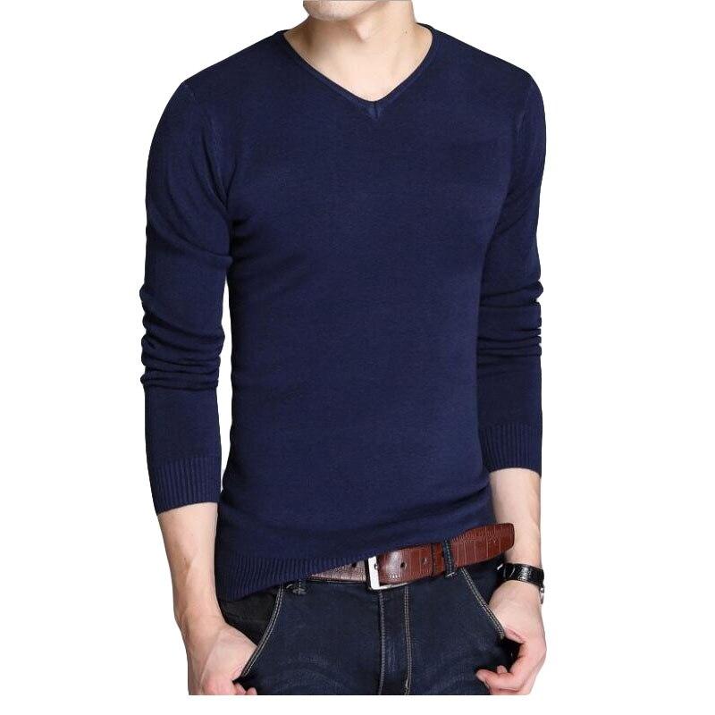 V-Neck Shirt Knit Sweater/male Pure-Cotton-Set Fashion Slim Head Left-Rom Leisure Quality