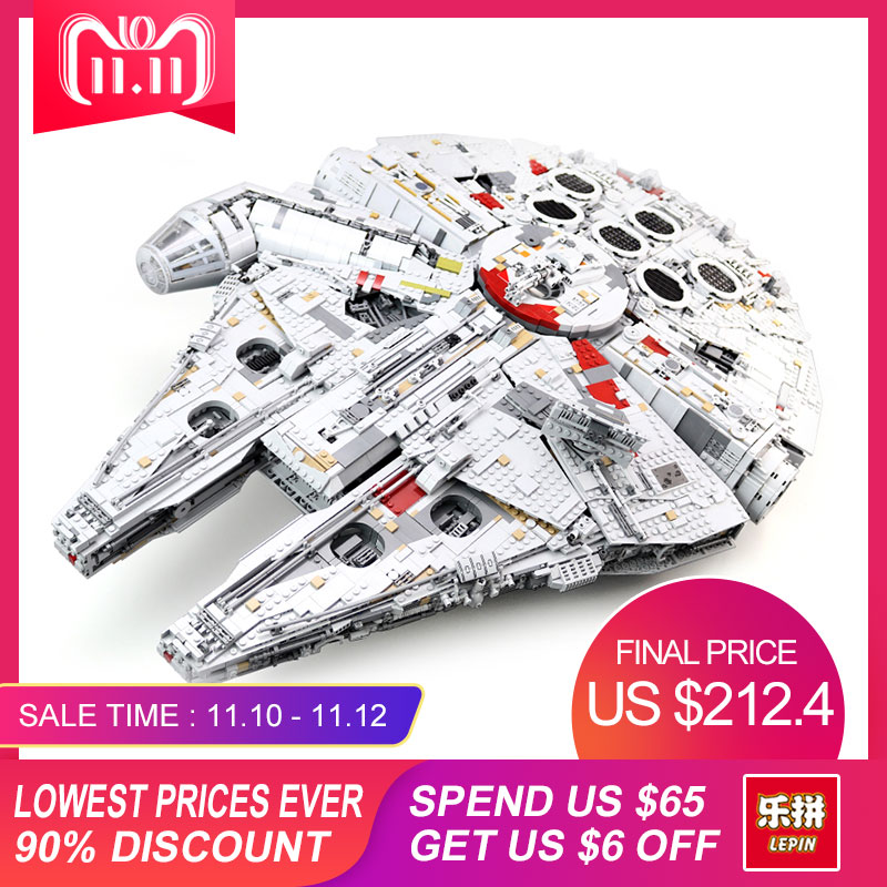 LEPIN 05132 Nuovo 8445 pz STELLA Ultimate collector Destroyer Serie Building Blocks Mattoni Bambini 75192 regali di natale WARS