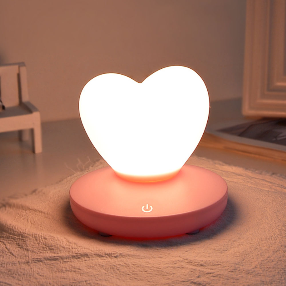 Children Baby Bedroom Night Lamp Cute Heart Silicone LED Night Light Rechargeable Touch Sensor LED Bedside Light for Kids Gift #Children Baby Bedroom Night Lamp Cute Heart Silicone LED Night Light Rechargeable Touch Sensor LED Bedside Light for Kids Gift #