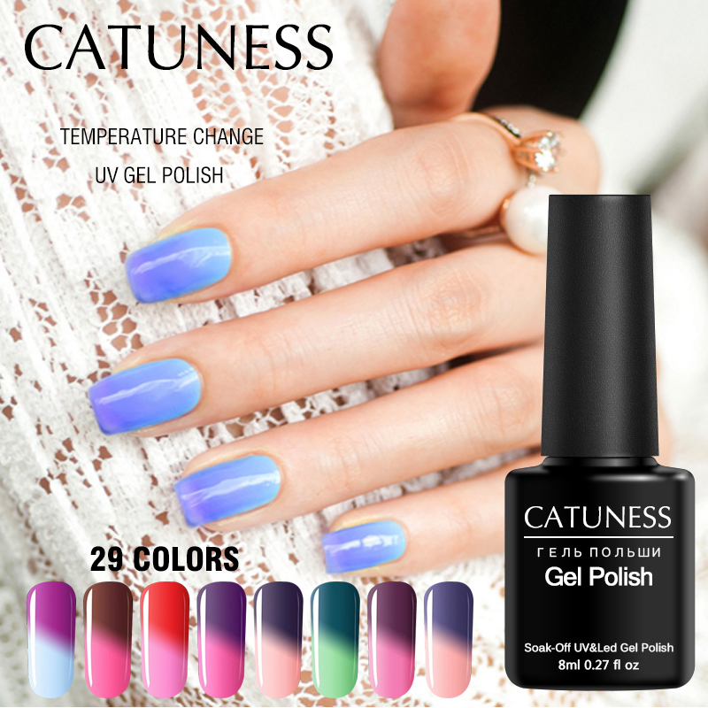 CATUNESS Gel Nail Polish Heat Temperature Change Color 3d Gel for ...