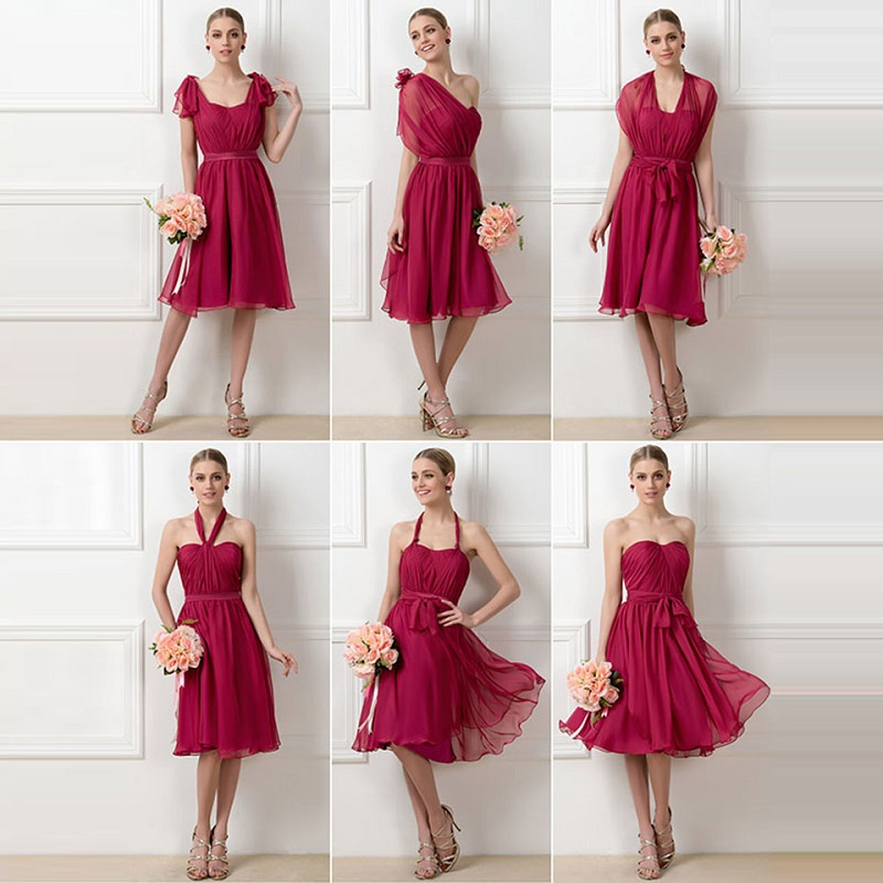 Detail Feedback Questions about Tanpell a line pleats bridesmaid dress  burgundy sleeveless knee length ruched gown women wedding party custom  bridesmaid ... d3d6799b01e7