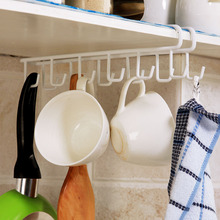 1pc Stainless Steel Kitchen Hook Hanger For Cup Towel Kitchen Storage Rack Holders Home Storage & Organization
