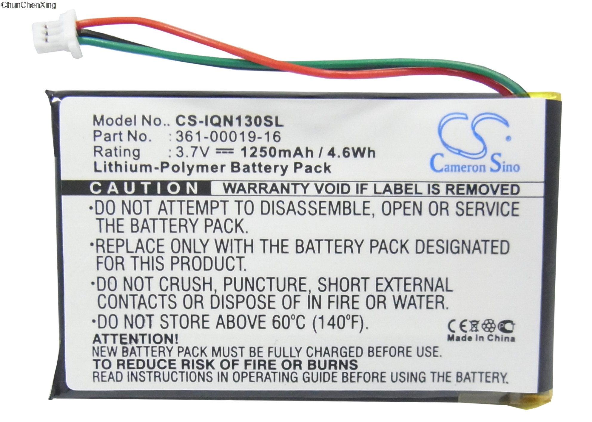 Cameron Sino 1250 mAh Bateria 361-00019-16 para Garmin Nuvi 1300, 1340 T  Pro, 1350, 1350 T, 1370, 1370 T, 1375 T, 1390, 1390 T, 1490