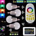 4x 2.4G E14 5W RGB+White(RGBW) or RGB+Warm White(RGBWW) Smart LED Bulb +4-Zone RF Touch Scree Remote  + Wifi Controller APP