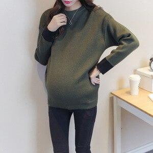 Теплый вязаный свитер для отдыха; Одежда для беременных; 2 цвета; Повседневный свитер с длинными рукавами для беременных женщин