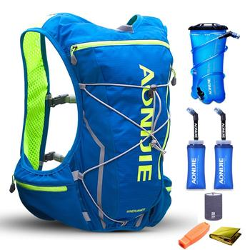 AONIJIE 10L Men Women Trail Running Hydration Backpack Hiking Racing Cycling Camping Marathon 2L Water Bag 2 350ML Soft Flask
