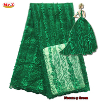 Mr Z Newest African Tulle Lace 2016 Embroidered Tulle French Fabric High Quality Nigerian French Lace
