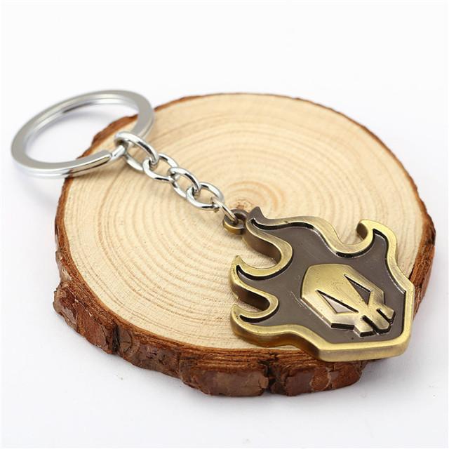 Anime Jewelry Bleach Logo Bronze Alloy Keychain
