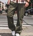 2XL-6XL 7XL Hombres de Gran Tamaño Ocio Monopatín Pantalones de Gran Tamaño Masculina Floja Ocasional Fit Pantalones Holgados Pantalones de Carga Militar de Pantalon
