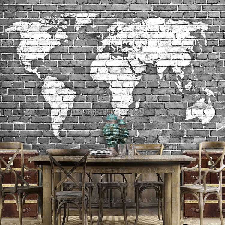 3d old gray brick wall world map large mural wallpaper tv sofa 3d old gray brick wall world map large mural wallpaper tv sofa sitting room photo wallpapers used for living room book room in wallpapers from home gumiabroncs Gallery