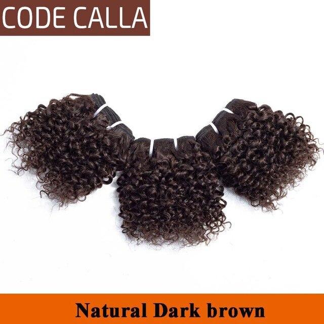 Code Calla Kinky Curly Bundles Brazilian Raw Unprocessed Pre-colored Virgin Human Hair Weave Bundles Extensions Double Drawn 1