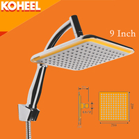 Rain Shower 9 Inch Shower Head Chrome Finished Wall Mounted Square Shower Head K9