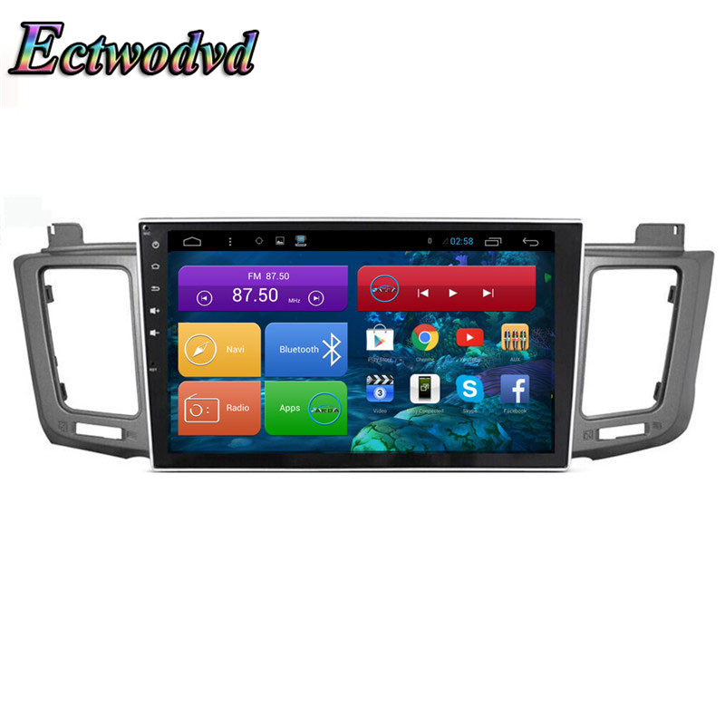 Ectwodvd 10.2inch Octa Core Android 7.1Quad Core Android 6.0 Car DVD GPS for Toyota RAV4 2014 2015 2016