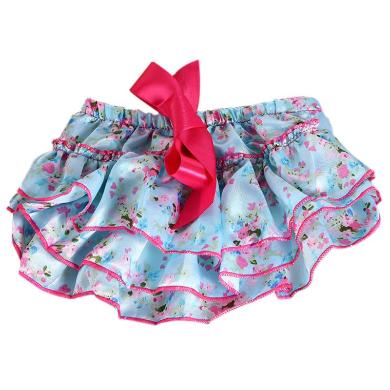 Baby Girl Ruffle Bloomer Panties Diaper Cover Nappy Shorts Briefs Summer Bottom Pants Nappy Covers PP Skirt