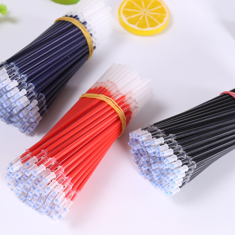 Good Quality 20Pcs/Lot Neutral Ink Gel Pen Refill Neutral Pen Refill Black Blue Red 0.5mm 0.38mm Bullet Refill Office And School