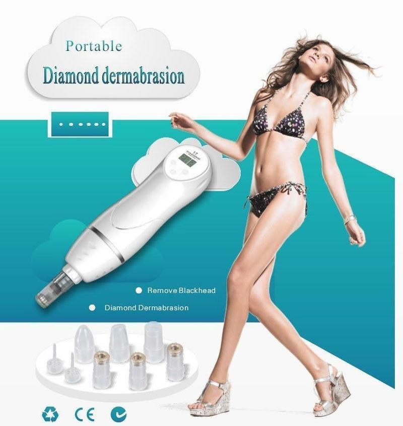 2017 Newest High Quality Handy Handheld Mini Diamond Peeling Microdermabrasion Skin Care Diamond Dermabrasion Beauty Machine