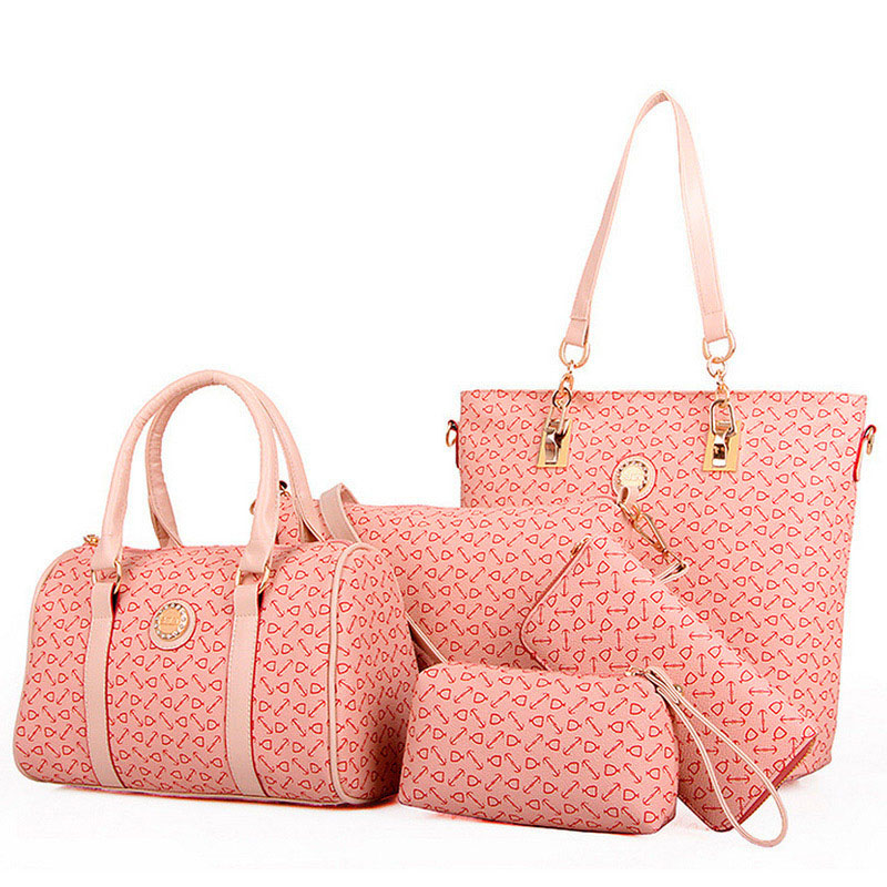 5 Bags/set  Casual Embossed Handbag Designer Handbag High Quality Women Messenge