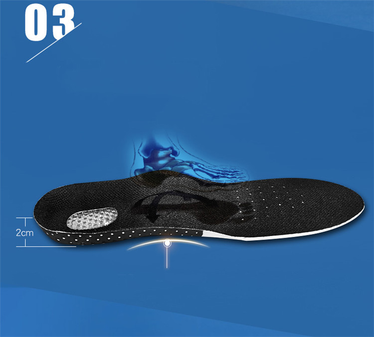 Plus Size Silicone Arched Insoles Multi-Sport Orthotic Insole Comfort Sweat Deodorant Massage Shock Absorber Basketball Insoles (16)