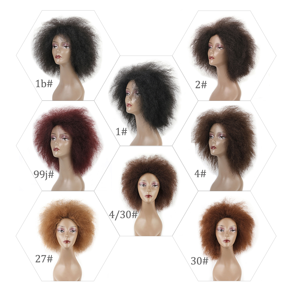 Xtrend 6inch 100g coco wig Short Synthetic Fluffy Wig African Black Women Yaki Straight Wig