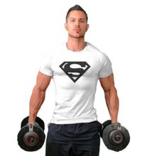 Mens T-shirt Muscle Golds gyms Fitness tops Bodybuilding Workout Clothes Cotton Superman T Shirts gasp plus size M-2XL