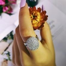 Новое поступление, 925 пробы, серебряные кольца, два подарка, 88 CZ бриллиантов, обручальные кольца для женщин, бренд,, уникальные кольца R103