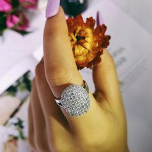 ARRIVAL 925 Sterling Silver Rings Two Gifts 88 CZ Diamonds Wedding Engagement for Women brand wholesale sepcial unique R103