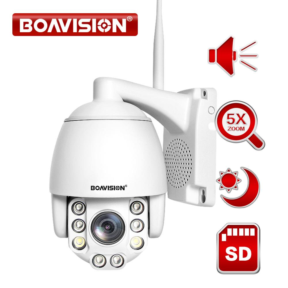 5X Optical Zoom Wireless PTZ IP Camera Wifi 1080P 5MP Two Way Audio Outdoor Video Surveillance Home Security Camera P2P CamHi