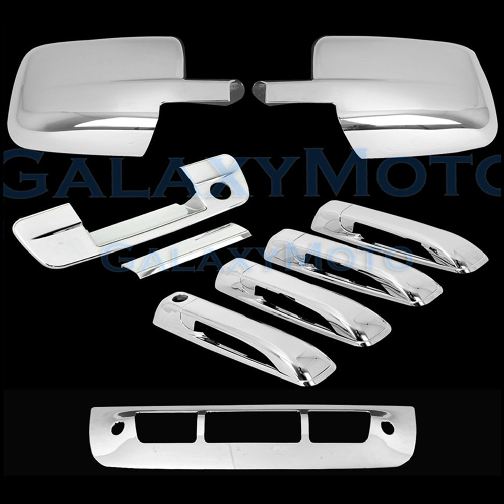 Xyivyg 09 16 for dodge ram chrome abs mirror without turn signal light 4