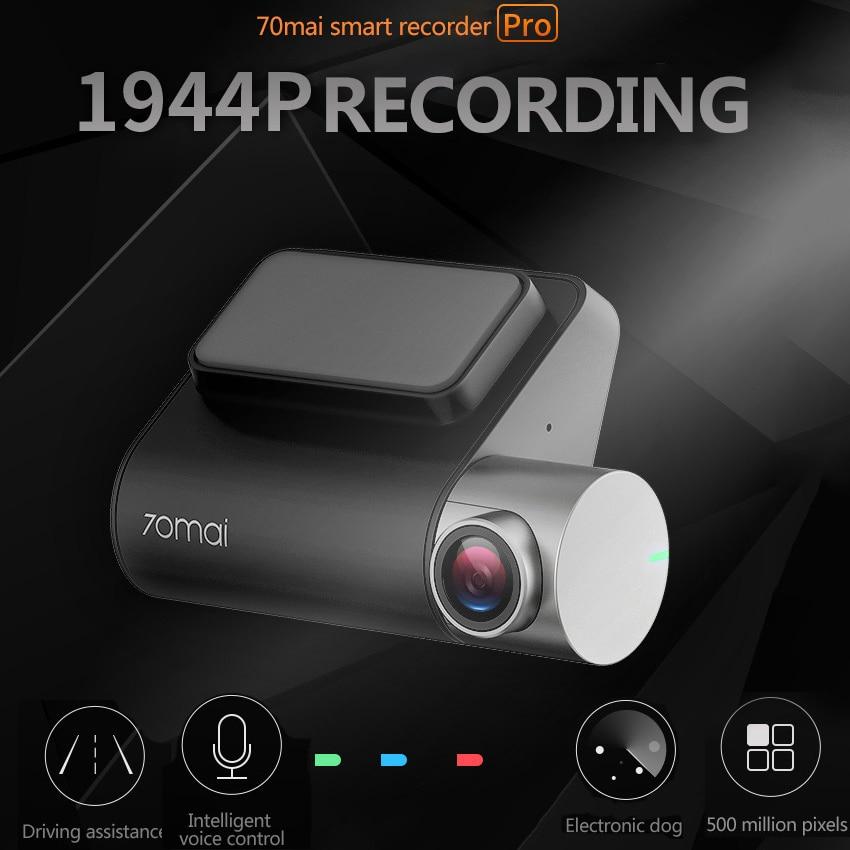 Xiaomi 70mai Dash Cam Pro inteligente coche 1994 P grabación de vídeo HD con función WIFI cámara de Vista trasera 140FOV noche visión módulo GPS