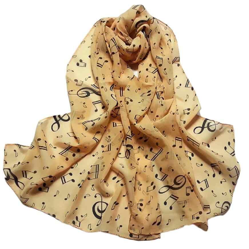 KANCOOLD Khăn Quàng new chất lượng cao Voan Lady thời trang Musical Note Cổ Scarf Shawl Muffler khăn quàng cổ phụ nữ voan jan25