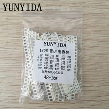 1206 SMD Condensator diverse kit, 36values * 20 stks = 720 stks 1pF ~ 10 uF Monsters Kit elektronische diy kit Gratis verzending(China)